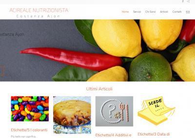 Realizzazione Sito Web per Nutrizionista di Acireale