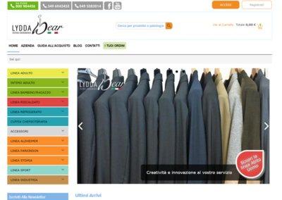 Realizzazione Sito Web per Lyddawear, abbiamo anche curato il web design