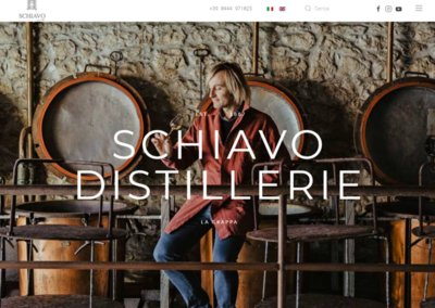 Realizzazione Sito Web per Distilleria Schiavo