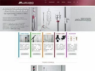 Realizzazione del sito web Ecommerce per Muraro Light Stand
