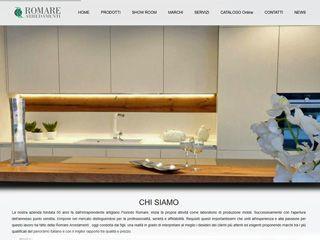 Realizzazione del sito web per Romare Arredamenti